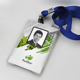 Brush Style Business Identity Card With Green Accent