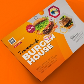 Burger House Business Flyer With Yellow Accent
