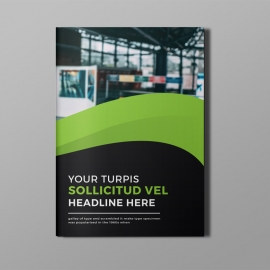 Business Bi-Fold Brochure With Green Concepts
