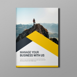Business Bi-Fold Brochure With Orange Elements