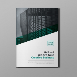 Business Bi-Fold Brochure With Paste Concepts