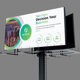 Business Billboard Banner With Green Concepts