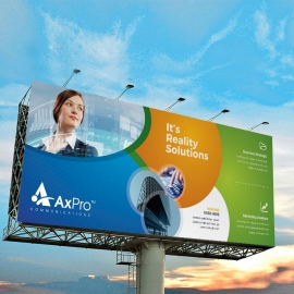 Business Billboarrd Banner With Blue Green Accent