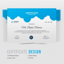 Business Blue Certificate Design
