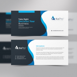 Business Blue Complement Card Design
