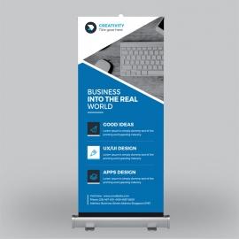 Business Blue Roll-Up Benner