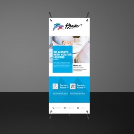 Business Boxs Rollup Banner