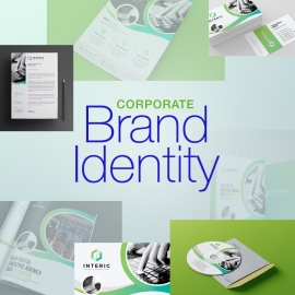 Business Brand Identity With Green Concepts