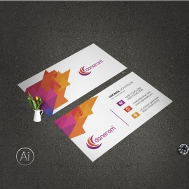 Business Card With Colorful Accent