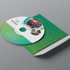 Business CD Sleeve & Sticker With Green Concept