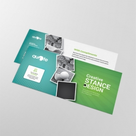 Business Compliment Card  With Paste Green Accent