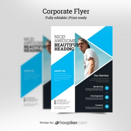 Business Cyan Flyer
