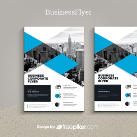 Business Cyan Flyer