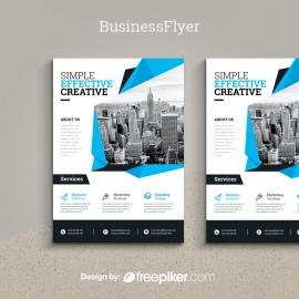 Business Cyan Flyer Template
