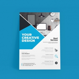 Business Cyan Flyer Template