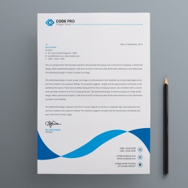 Business Cyan Letterhead