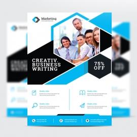Business Cyan Psd Flyer