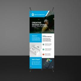 Business Cyan Rollup Banner