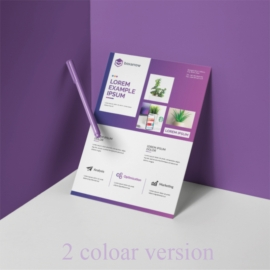 Business Flyer Layout with Purple