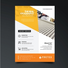 Business Flyer with Abstract Design