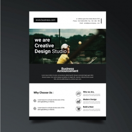 Business Flyer with Black  Accent