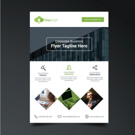 Business Flyer with Black and Green
