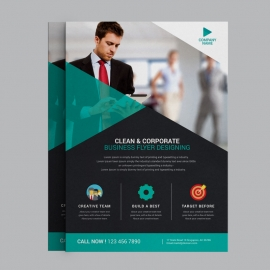 Business Flyer With Black Paste Concepts