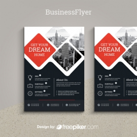 Business Flyer with Black & Red Accent