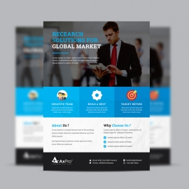 Business Flyer With Blue Elements