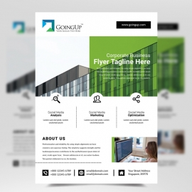 Business Flyer with Green Color