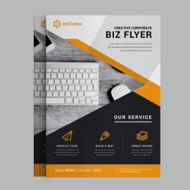 Business Flyer With Orange Concepts