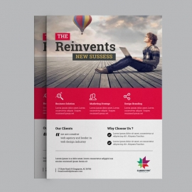 Business Flyer With Red Concept