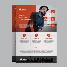 Business Flyer With Red Elements