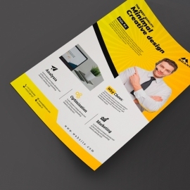 Business Flyer With Yellow Accent