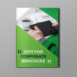 Business Green Bi-Fold Brochure