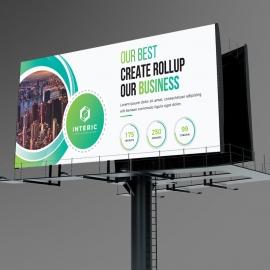 Business Green Billboard Banner