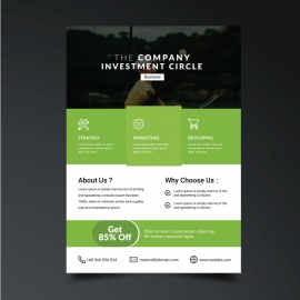 Business Green Boxs Flyer