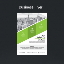 Business Green Flyer