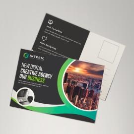 Business Green Postcard