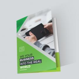 Business Green Presentation Folder