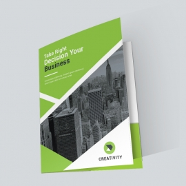 Business Green Presentation Folder