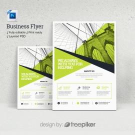 Business Green Psd Flyer