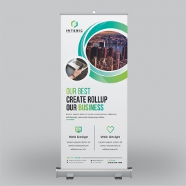 Business Green Roll-Up Banner