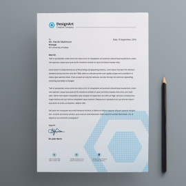 Business Letterhead With Blue Concepts