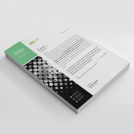 Business Letterhead With Paste Accent