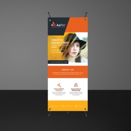 Business Orange Rollup Banner