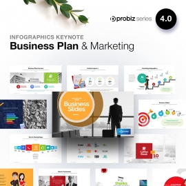 Business Plan & Marketing Infographic KeyNote | ProBiz IV