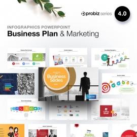 Business Plan & Marketing Infographic Powerpoint | ProBiz IV