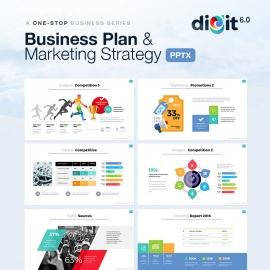 Business Plan & Marketing Strategy Powerpoint | Digit VI