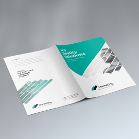 Business Presentation Folder With Paste Triangle